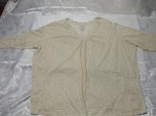 Buy Short Sleeve Cream Blouse Size 4X Cotton / Polyester