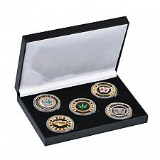 Buy Las Vegas poker chips coins in holder FREE SHIPPING
