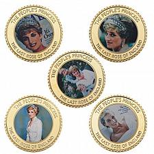 Buy Princess Diana coins in holder Free shipping