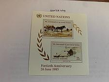 Buy United Nations 40 years UNO s/s 1985 mnh stamps