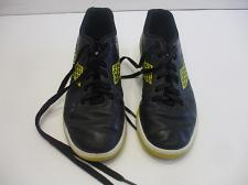Buy Diadorra Boys Size 5 Indoor Soccer Shoes Black Leather Yellow Soles 10 Inches long
