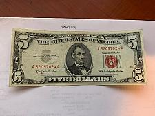 Buy United States Lincoln $5 red circulated banknote 1963 #11