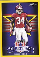 Buy Damien Harris #77 - Patriots 2019 Gold Leaf Rookie Football Trading Card