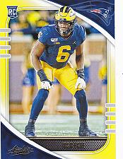 Buy Josh Uche #164 - Patriots 2020 Panini Yellow Rookie Football Trading Card