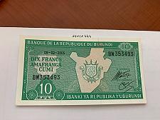 Buy Burundi 10 francs uncirc. banknote 2005