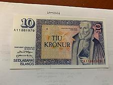 Buy Iceland 10 kronur uncirc. banknote 1961