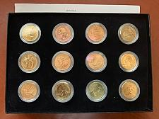 Buy United States 25 cents gold plated 12 coin set 2009