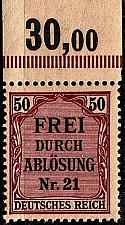 Buy GERMANY REICH Dienst [1903] MiNr 0008 ( **/mnh )