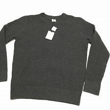 Buy NWT GAP Men's Gray Wool Blend Knit Crew Neck Sweater Large