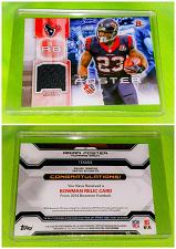 Buy Nfl Arian Foster Houston Texans 2014 Bowman Game-worn Jersey Relic Mnt