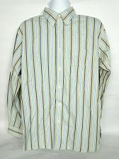 Buy Eddie Bauer Mens Button Up Shirt Size Large Blue Striped Relaxed Fit