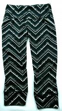 Buy Athleta Women's Relay Zig Zag Capri Size XS Athletic Black White Stretch