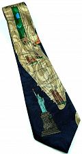 Buy New York City Streets Landmarks Statue of Liberty Empire State Building Tie