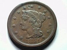 Buy 1851 LARGE CENT PENNY VERY FINE VF NICE ORIGINAL COIN FROM BOBS COINS FAST SHIP