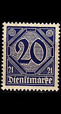 Buy GERMANY REICH Dienst [1920] MiNr 0019 a ( **/mnh )