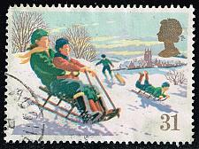 Buy Great Britain #1343 Sledding; Used (0.90) (2Stars) |GBR1343-01XVA