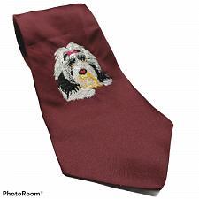 Buy Wolfmark Neckwear Embroidered Shih Tzu Dog Novelty Necktie