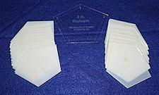 """Buy Mylar 2"""" Sides -Flattened Pentagon 51 Piece Set - Quilting / Sewing Templates"""
