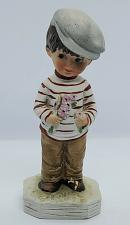Buy 1973 Fran Mar Moppets Gift World of Gorham Boy Figurine w/ Flowers 1st Date