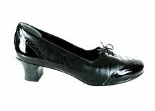 Buy Munro Black Wingtip Slip On Block Heels Pump Shoes Women's 10 (SW13)