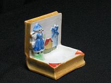 Buy Porcelain Dutch Girl Windmill Book Figural Ashtray Snuffer Vintage Japan Vintage