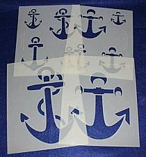 """Buy Anchor 4 Piece Stencil Set 14 Mil 8"""" X 10"""" Painting /Crafts/ Templates"""