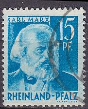 Buy GERMANY Alliiert Franz. Zone [RheinlPfalz] MiNr 0021 y II ( O/used )