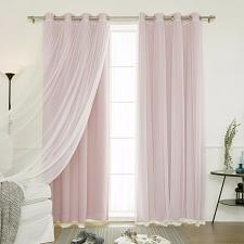 Buy Baby Infant Window Curtains Grommet Drapes 2 Blackout 2 Sheer Tulle Total Set 4