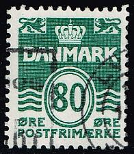 Buy Denmark #629 Wavy Lines; Used (3Stars) |DEN0629-01XBC