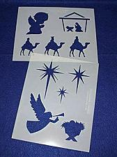 "Buy Christian Christmas Mylar 2 Pieces of 14 Mil 8"" X 10"" - Painting /Crafts/ Templa"