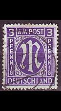 Buy GERMANY Alliiert AmBri [1945] MiNr 0010 F ( O/used )