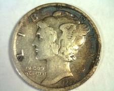 Buy 1927-S MERCURY DIME ATTRACTIVE TONED VERY FINE+ VF+ NICE ORIGINAL COIN BOBS COIN