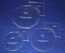 "Buy Circle Within Square Set 3"", 4"", 5"" Circles - 4"", 5"", 6"" Quarter Squares 1/8"""
