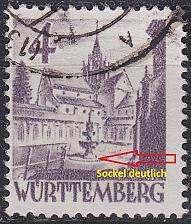 Buy GERMANY Alliiert Franz. Zone [Württemberg] MiNr 0029 y a VI ( O/used )