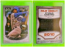 Buy MLB STARLIN CASTRO CHICAGO CUBS 2010 TOPPS MLB DEBUT INSERT MINT