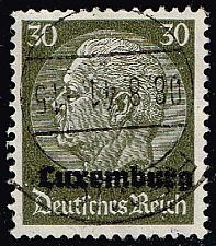 Buy Luxembourg #N11 Hindenburg - German Occupation; Used (4Stars) |LUXN11-01XRP