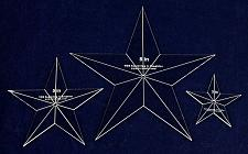"""Buy Star Quilt Templates. 3"""",5"""",8"""" - Clear 1/8"""" Thick Acrylic"""