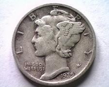Buy 1939-S MERCURY DIME VERY FINE / EXTRA FINE VF/XF VERY FINE /EXTREMELY FINE VF/EF