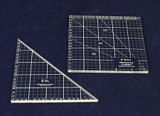 """Buy 2 Piece Ruler Set. 5"""" Square & 5"""" Right Triangle - 1/8"""""""
