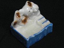 Buy Vintage Porcelain Ashtray Bears Cubs Figural Snuffer Japan Lustreware