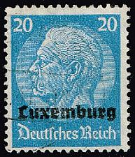 Buy Luxembourg #N9 Hindenburg - German Occupation; Used (3Stars) |LUXN09-01XRP
