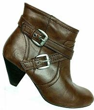 Buy Steve Madden Women's Viccee Brown Leather Side Zip Ankle Boots Size 7 M