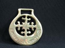 Buy Vintage Barbridge Junction Horse Brass Medallion Harness w/ Getts Snowflake Flag