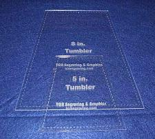 """Buy 5"""" & 8"""" Tumbler Set Quilt Template - With Seam Allowance -Clear 1/8"""" Acrylic"""