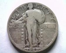 Buy 1929-S STANDING LIBERTY QUARTER VERY GOOD VG NICE ORIGINAL COIN FROM BOBS COINS