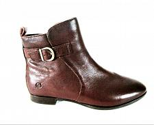 Buy Born Brown Leather Side Zippers Ankle Boots Women's 10 M (SW10)