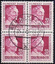 Buy GERMANY Alliiert Franz. Zone [Württemberg] MiNr 0048 ( O/used ) [01] 4er