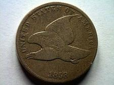 Buy 1858 FLYING EAGLE SMALL LETTERS VERY GOOD/ FINE VG/F NICE ORIGINAL COIN