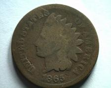 Buy 1865 PLAIN 5 INDIAN CENT PENNY GOOD G NICE ORIGINAL COIN BOBS COINS FAST SHIP