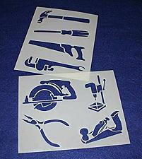 """Buy Mylar 2 Pieces of 14 Mil 8"""" X 10"""" Tools Stencils- Painting /Crafts/ Templates"""